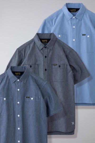 画像1: BLUCO / CHAMBRAY WORK SHIRTS S/S /  半袖シャツ(全3色)