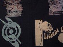 "Other Photo3: VIOLENTGRIND / 25th記念パート2 / 手刷りマルチプリントTシャツ""6"""