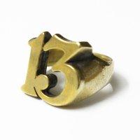 "B.W.G / HATCHET Collabo ""13"" PINKY RING  / リング"