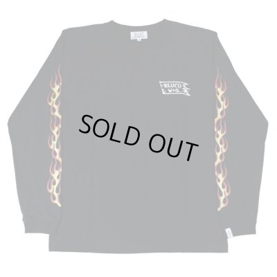 画像2: SALE!!B.W.G / FIRE PATTERN LONG SLEEVE TEE / パターンRED