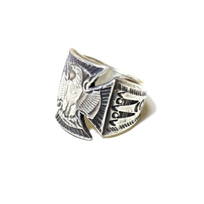 画像1: B.W.G x CHOOKE / EAGLE IRONCROSS RING