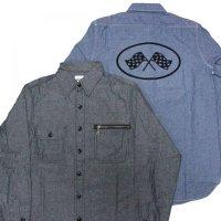 B.W.G / CHAMBRAY SHIRTS / シャンブレーシャツ(フロッキープリント有)