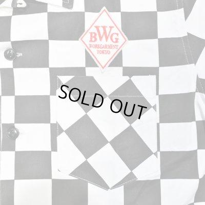 画像3: B.W.G / チェッカーフラッグシャツ【ワッペン付き】 / S/S シャツ